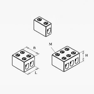 Terminal blocks - without mounting holes, housing material - porcelain